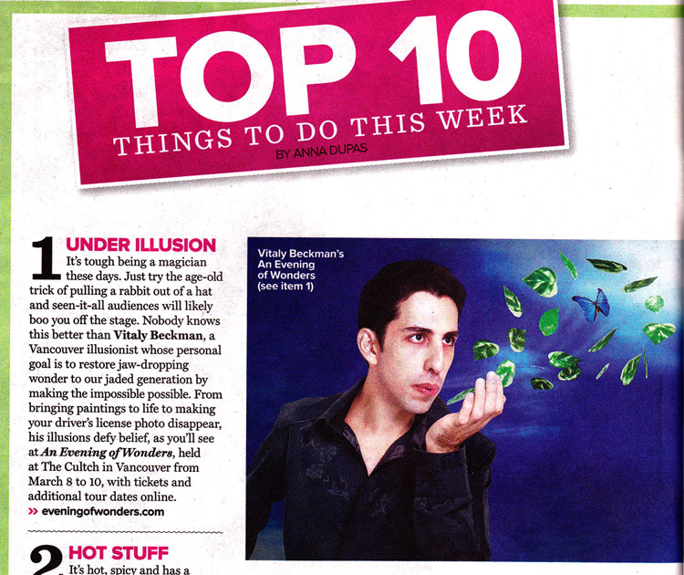 Mar 2-8: Top 10 Things to do - TV Week