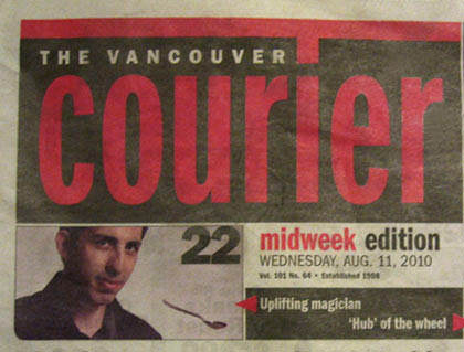 The Vanouver Courier – Cover